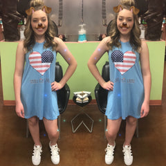 Jadelynn Brooke Love This Land Swim Cover / Tshirt Dress - Haute Stuff Boutique