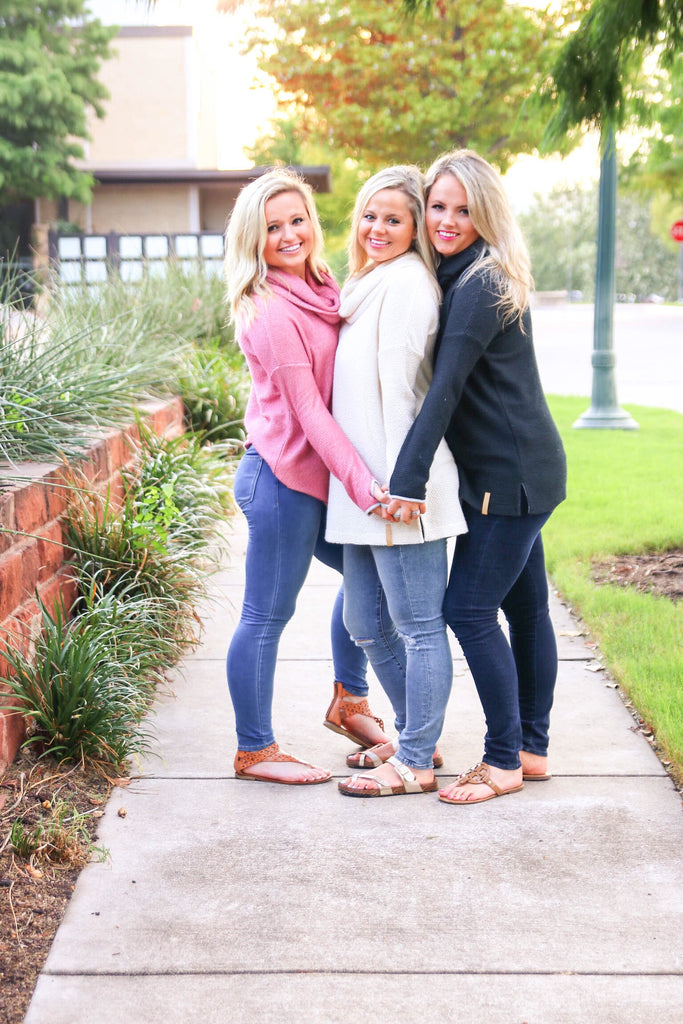 Jadelynn Brooke Cowl Neck Pullovers - Haute Stuff Boutique