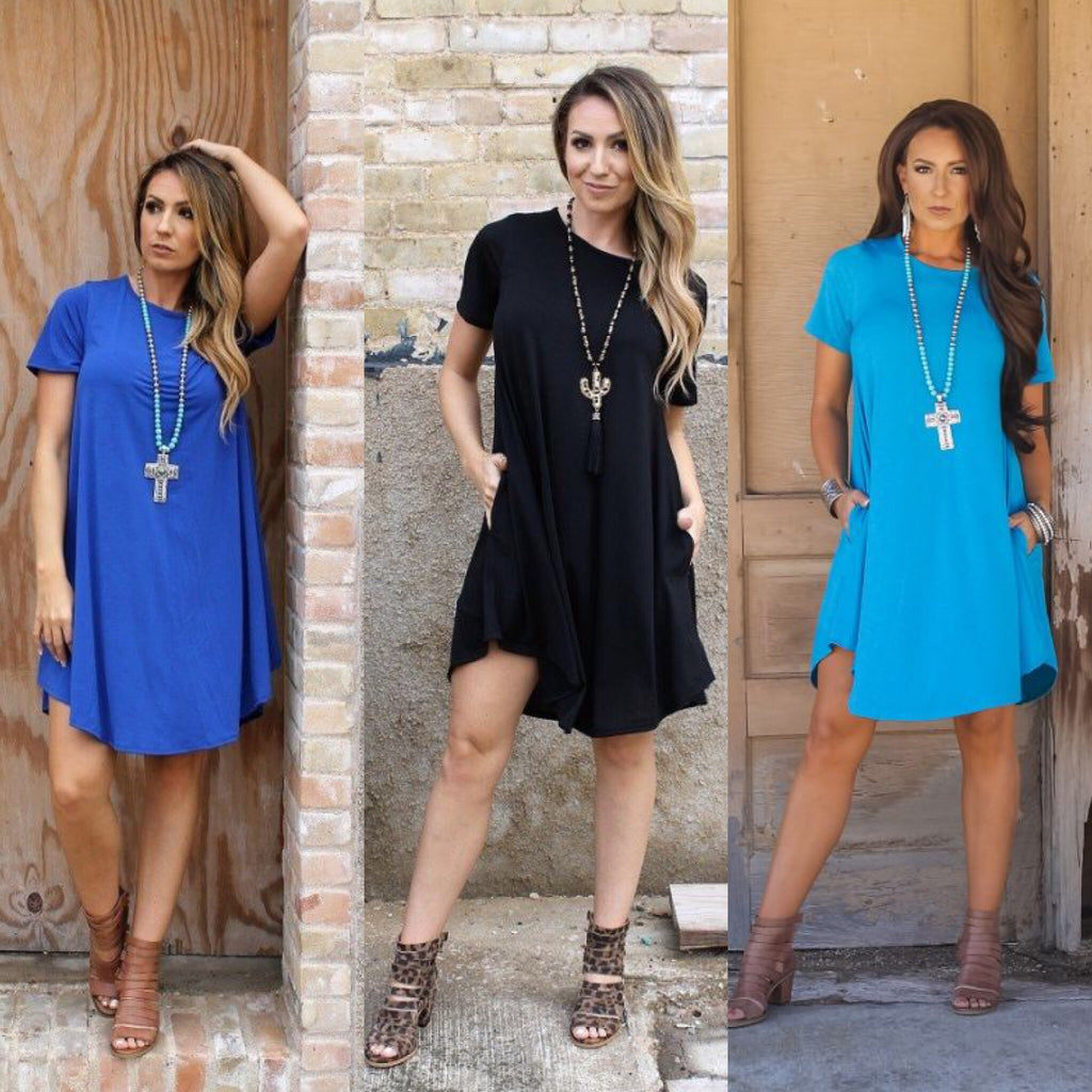 Cute and Casual Short Sleeve Dress - Haute Stuff Boutique