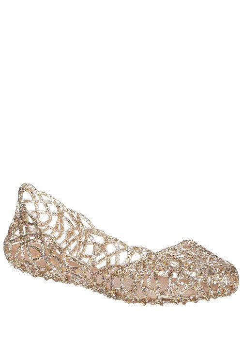 Rose Gold Jelly Flats - Haute Stuff Boutique