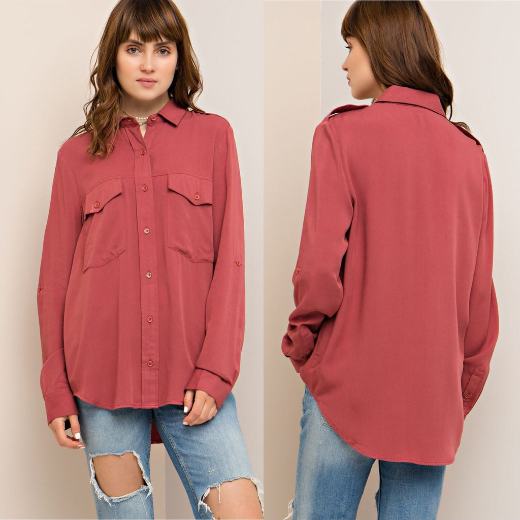 Darcy Everyday Top In Marsala - Haute Stuff Boutique