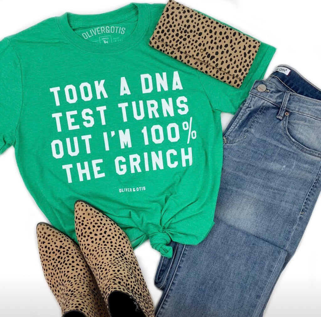 100% The Grinch Short Sleeve Christmas Tee - Haute Stuff Boutique