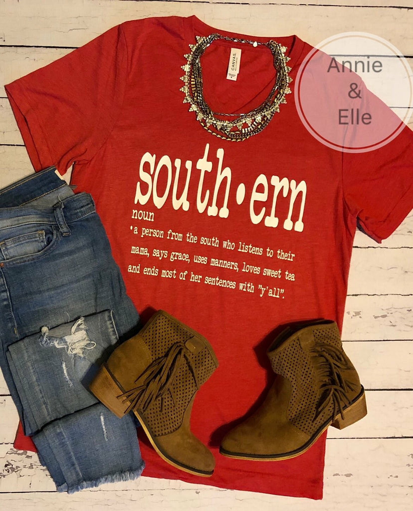 Southern Definition Short Sleeve Tee - Haute Stuff Boutique