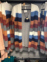 Color Block Cardigan - Haute Stuff Boutique