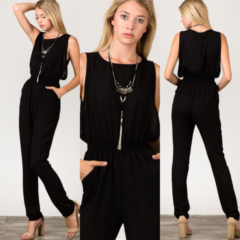 New York City Black Romper