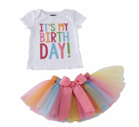 It's My Birthday Tutu Set by Mud Pie