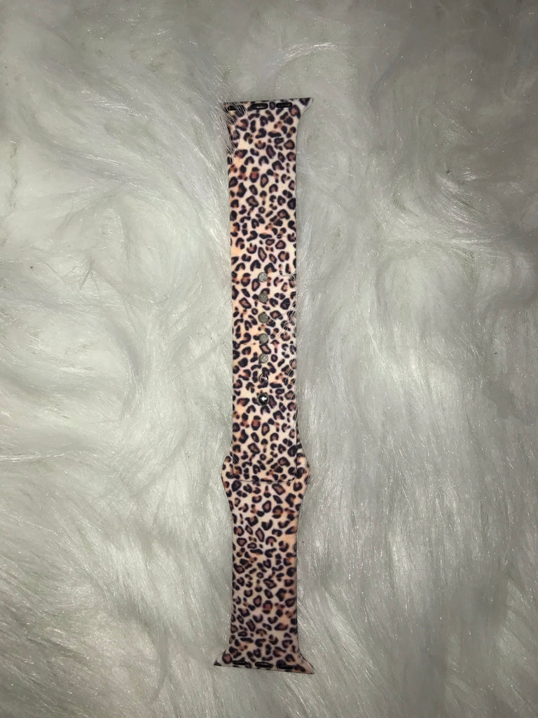 Leopard Print Watch Band To Fit 38mm Apple Watch - Haute Stuff Boutique
