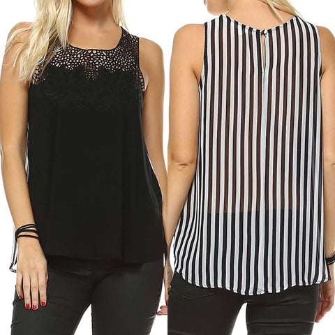 da80658aa10032 The Mullet Sleeveless Top - Business in the Front  Party In The Back
