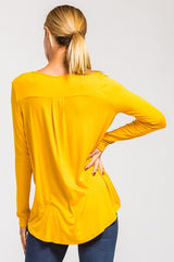Criss Cross Front Long Sleeve Hi Lo Top - Haute Stuff Boutique