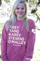 #Squad Goals - Grey's Anatomy You Are My Person Long Sleeve Shirt by Jadelynn Brooke - Haute Stuff Boutique