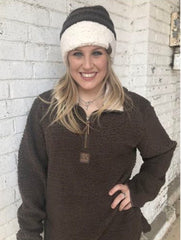 C.C. Brand Quarter Zip Sherpa Pullovers - 8 Colors - Haute Stuff Boutique