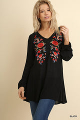 Love Song Floral Embroidered Tunic - Haute Stuff Boutique