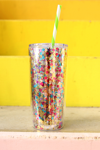 20 Oz. Confetti Party Tumbler By Jadelynn Brooke's Happy Hooligan Line
