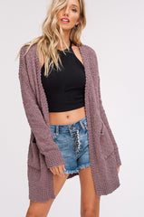 Popcorn Cardigan Sweater - Haute Stuff Boutique