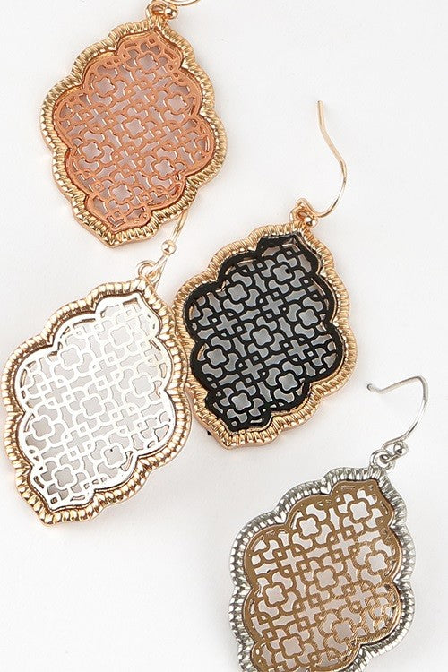 Metal Earrings - Haute Stuff Boutique