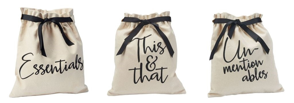 Mud Pie Canvas Travel Bags Essentials, This & That, Unmentionables - Haute Stuff Boutique
