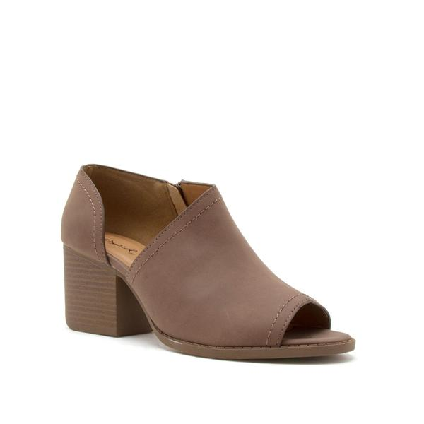 Peep Toe Shootie in Nutmeg - Haute Stuff Boutique
