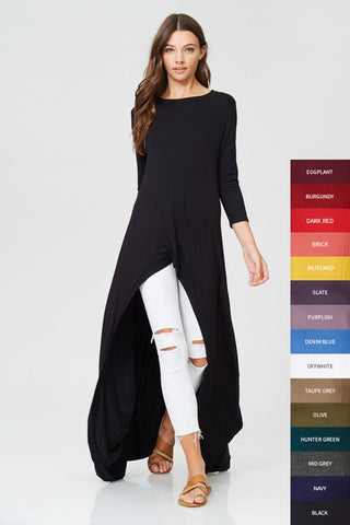 Catwalk Solid Hi-Lo Tunic