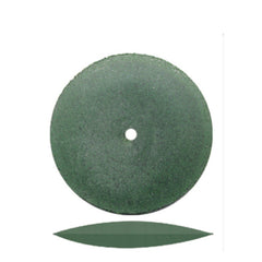 Dedeco® Classic Rubber Green Knife Edge Wheels 7/8""