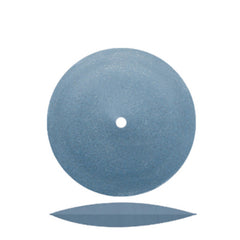 Dedeco® Classic Rubber Blue Knife Edge Wheels 7/8""
