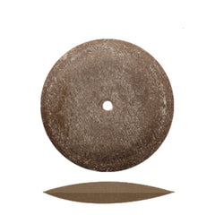 Dedeco® Classic Rubber Brown Knife Edge Wheels 7/8""