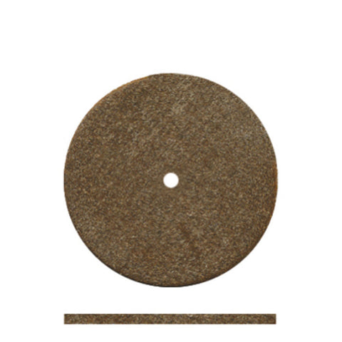 "Dedeco® Classic Rubber Brown Sq. Edge Wheels 7/8"" - Interproximal"