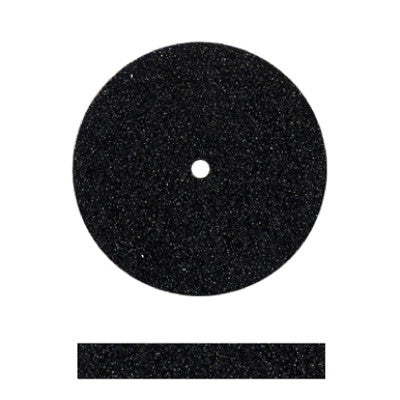 Black Silicone Unmounted Square Edge Wheels 7/8""