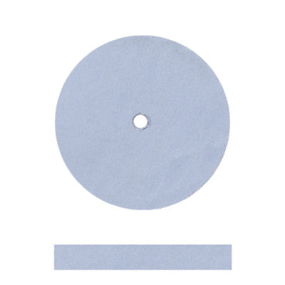 Blue Silicone Unmounted Square Edge Wheels 7/8""