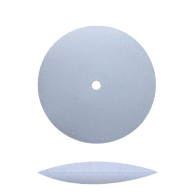 Blue Silicone Unmounted Knife Edge Wheels 7/8""