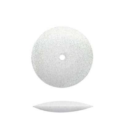 White Silicone Unmounted Knife Edge Wheels 5/8""