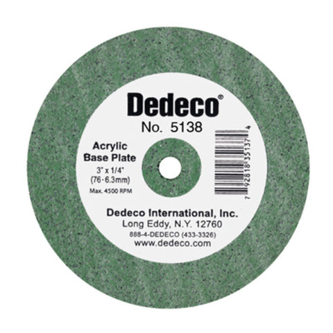 Dedeco® Lathe Wheel Green Acrylic