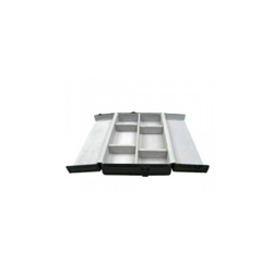 Aluminum Parcel Paper Case Black - Double Row