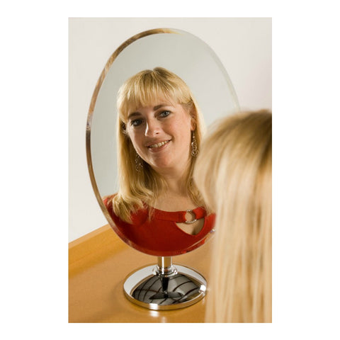 Rimless Oval Mirror