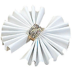 White Leatherette - Ring Flower