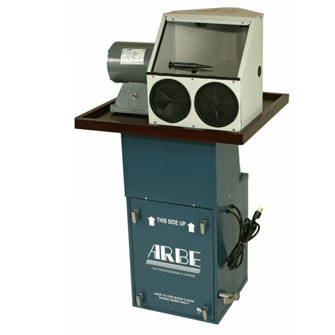 Arbe® Polishing System - Mini Floor Single Spindle Motor + Enclosed Hood