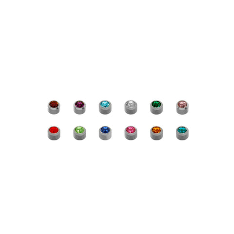 Caflon® Piercing Studs - (WMBA) Bezel White Assorted Mini