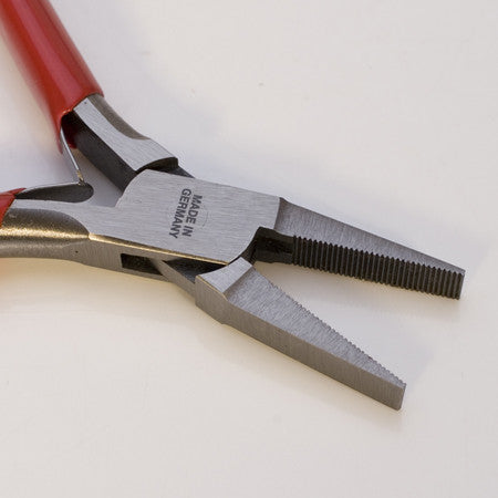 German Pliers - Flat Nose Serrated