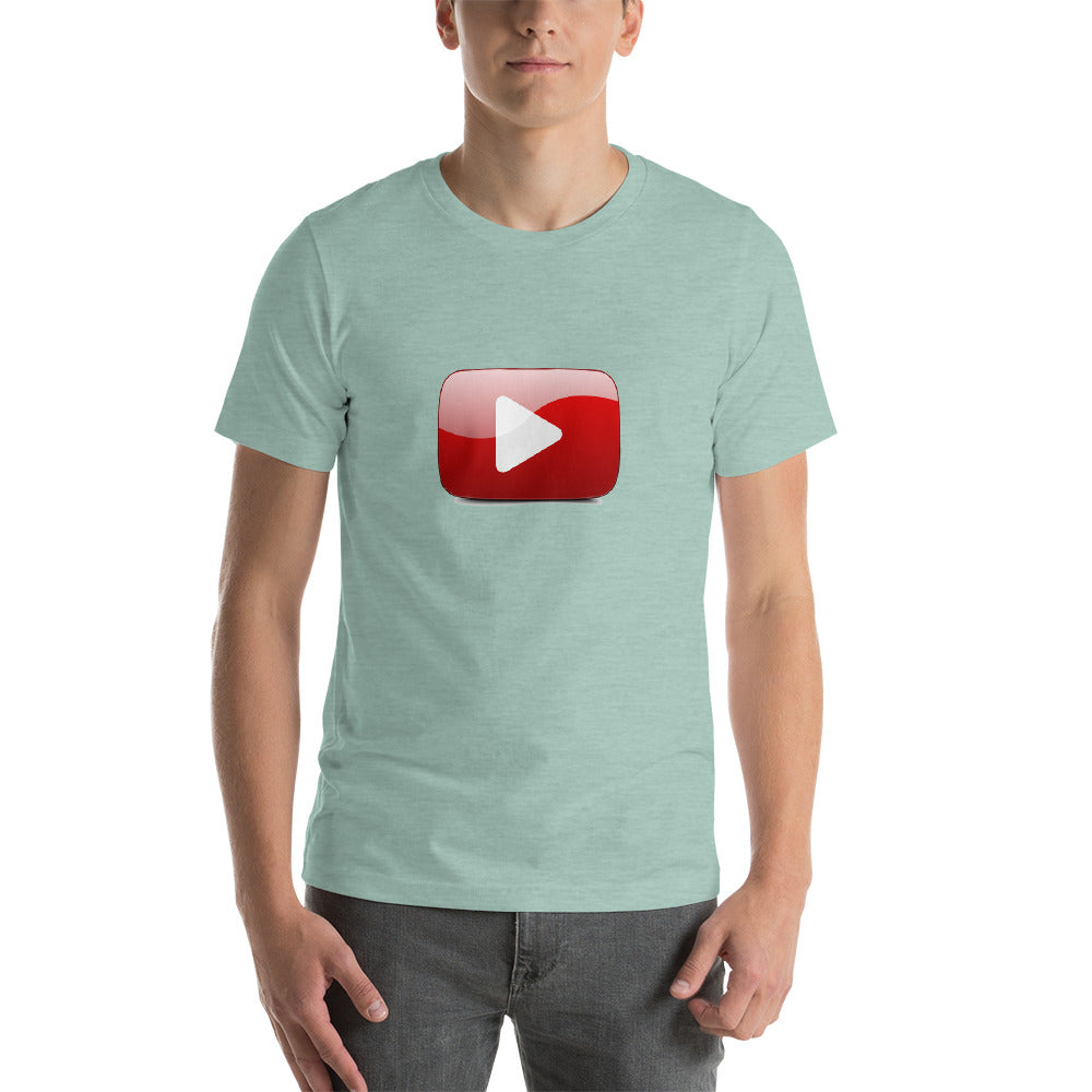 Play Button WebStore TV Short-Sleeve Unisex T-Shirt - Web Store TV WSTV