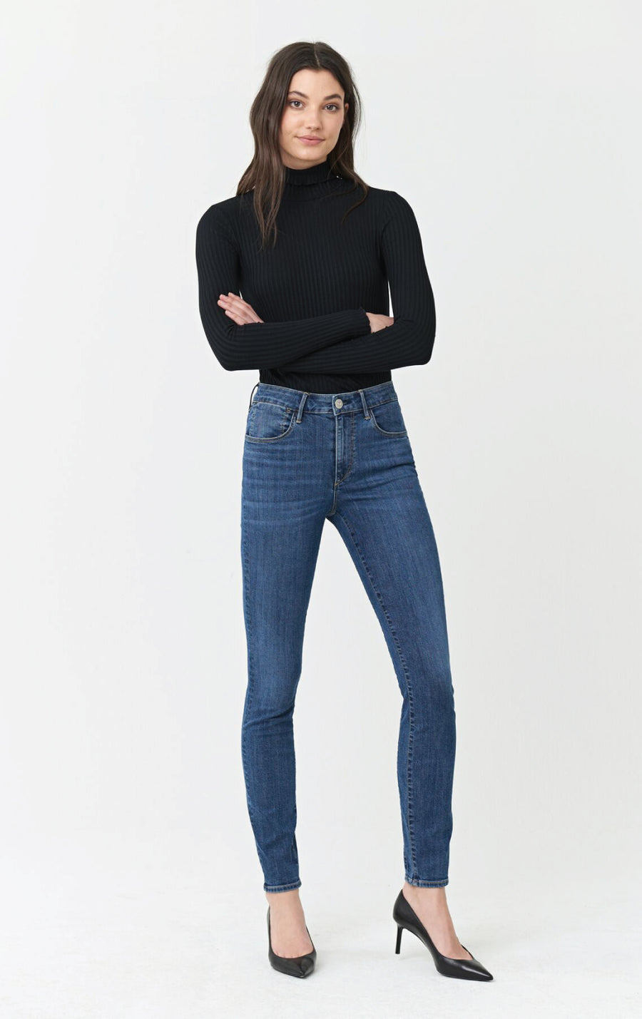 High Rise Channel Seam Skinny