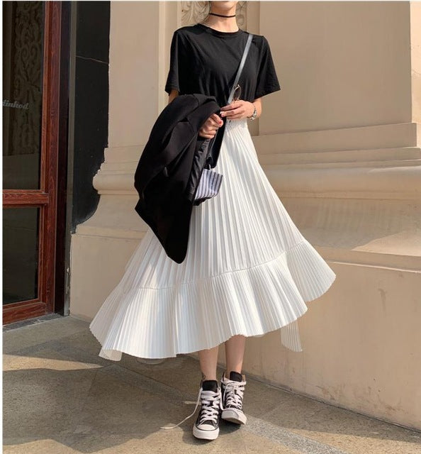 2019 Spring New Arrival Korean Irregular Skirt Sweet