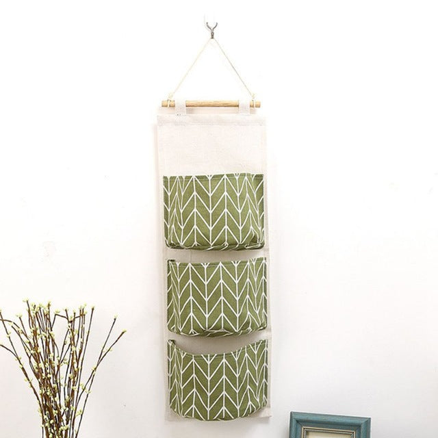 Cotton Hanging Organizer Pockets Multilayer Fashion Wall