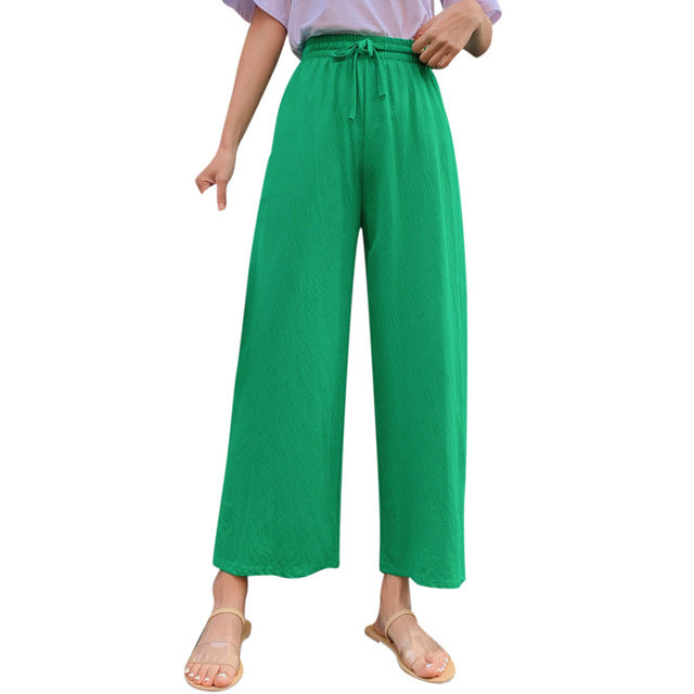 Blend Long Wide Leg Loose Trousers Neue Mode Damenbekleidung
