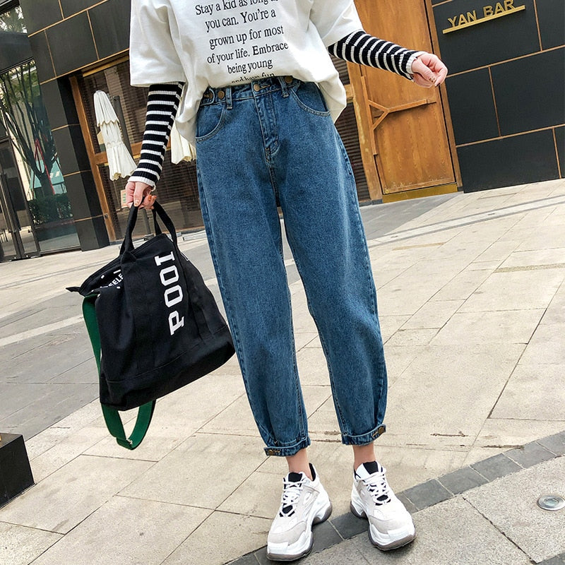 Straight Sweet Denim Pants 2019 Spring Casual