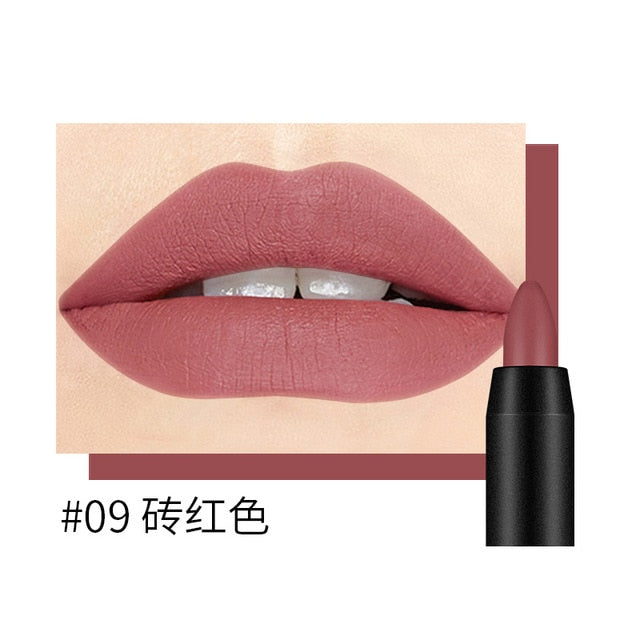 19 Colors Sexy Matte Lip Stick Lipliner Lip Liner Pencil Matt