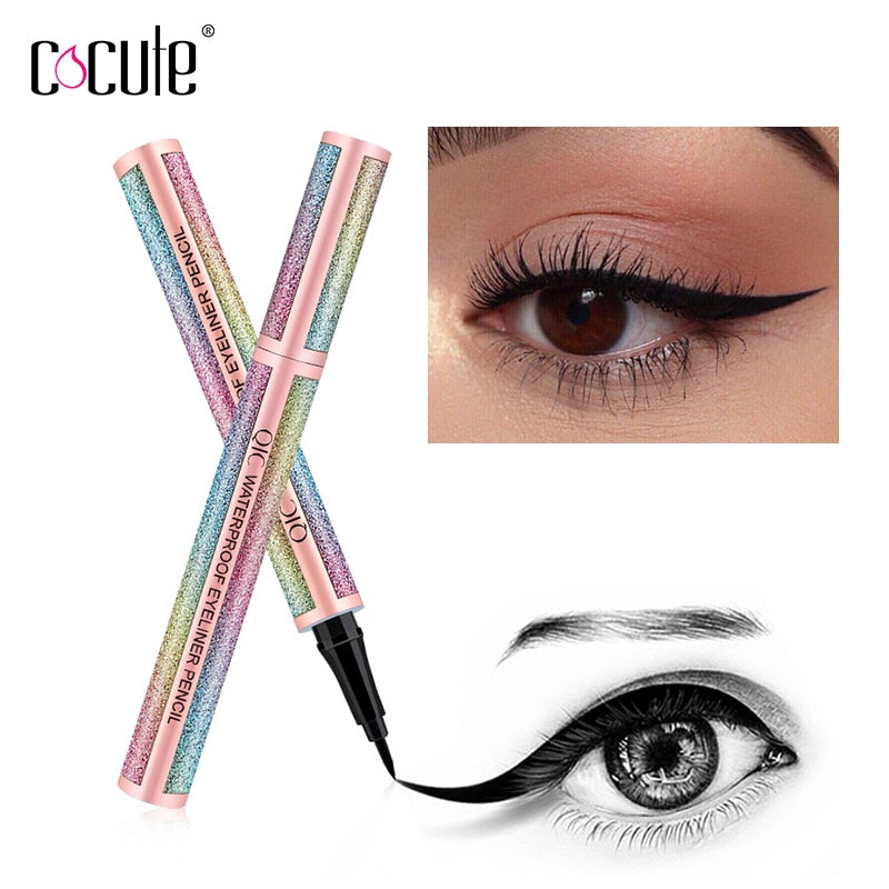 2 in 1 Liquid Eyeliner Pen Eye Liner Waterproof pencil Long-lasting