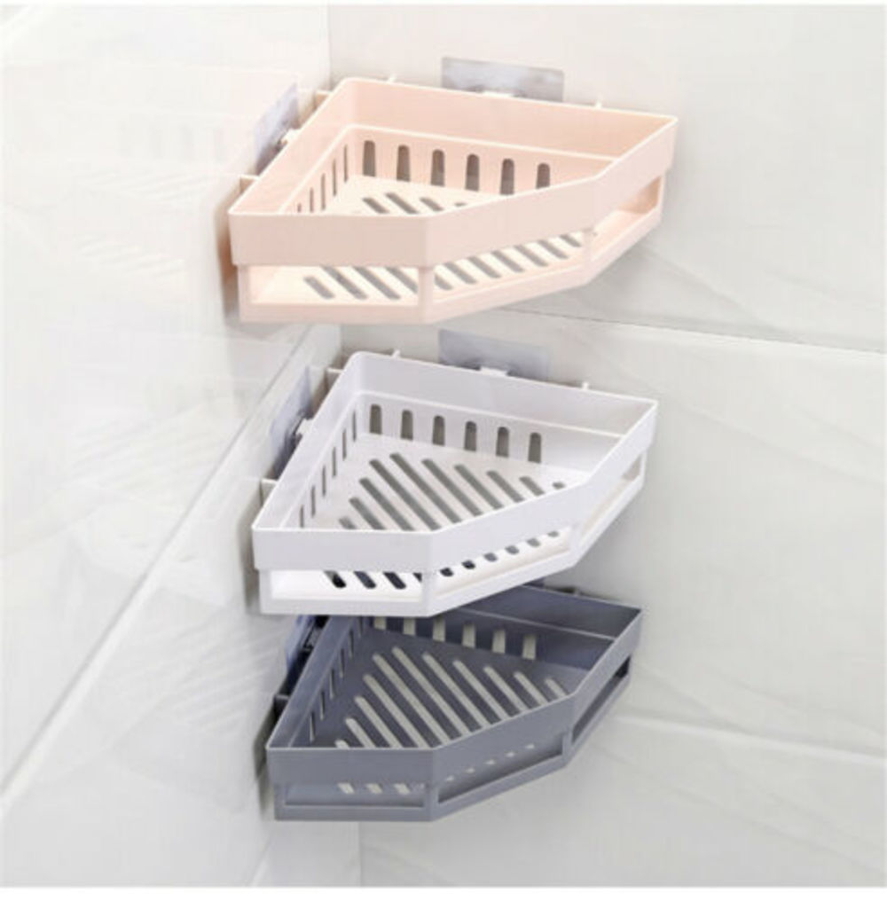 Triangular Shower Caddy Shelf Bathroom Corner