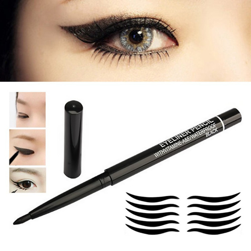 1pcs Black Eyeliner Pencil Long Lasting Non-fade Cosmetics Makeup