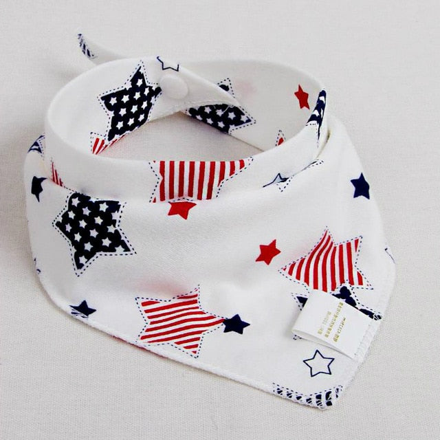 Baby Bibs Waterproof Triangle Cotton Cartoon Child Baberos