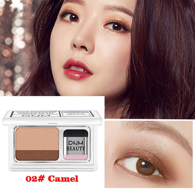 Two-color lazy eye shadow plate masonry flash palette