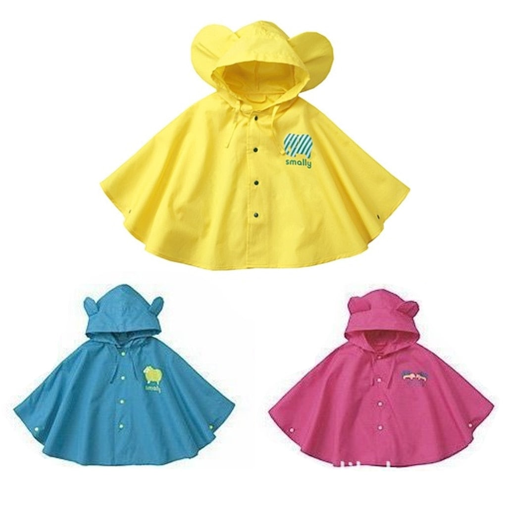Raincoat For Children Cartoon Animal Kids Rainproof